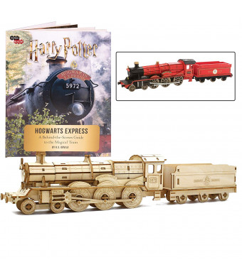 """IncrediBuilds Harry Potter Hogwarts Express Book and 3D Wood Model Kit - Build, Paint and Collect Your Own Wooden Model - Great for Kids and Adults, 12 + - 12"""""""