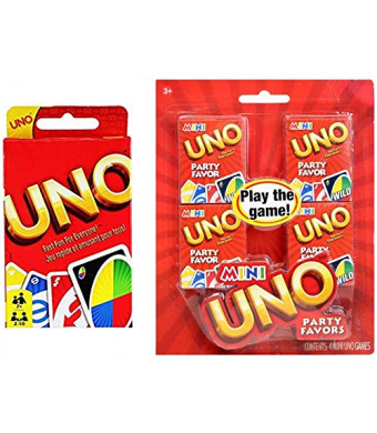 Classic Uno Plus 4-Pack of Mini Uno