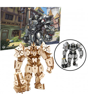 IncrediBuilds Overwatch Reinhardt Poster and 3D Wood Model Kit - Build, Paint and Collect Your Own Wooden Model - Great for Kids and Adults,12+ -