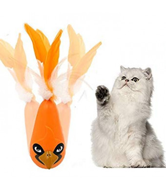 FIRIK Cat Toys Best Automatic Feather Interactive Shake Tumbler Toy Entertainment Exercise for Indoor Cats Best Toy for Kitten Kitty