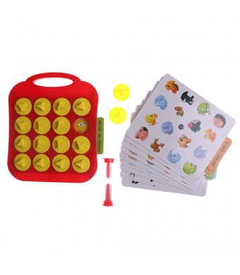 Bingo Game for Kids Children Memory Training Matching Pair Game Early Education Interactive Toy Board Game with Bingo Cards