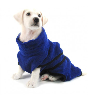 JX Pet Robes Dog Easy Wear Dog Towel Luxuriously Soft 100% Microfiber Pet Bathrobe Super Water Absorbent