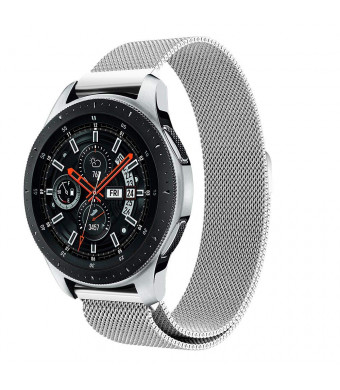 Gealpoor Galaxy Watch 46mm Bands,Stainless Steel Milanese Loop with Adjustable Magnetic Closure Replacement for Samsung Galaxy Watch 46mm,Gear S3 Classic Smart Watch for Women Mens