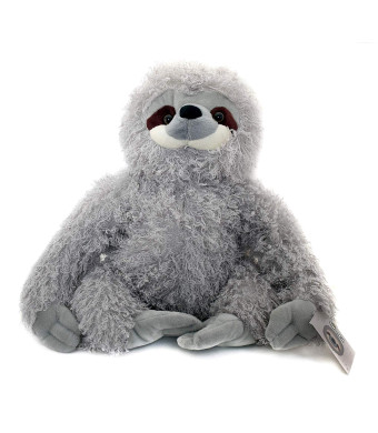 KINREX Three Toed Sloth Stuffed Animal  Super Realistic Floppy Large Plush Toy for Boys, Girls and Adults  Measures 13 inches / 33 cm