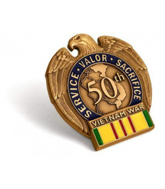 Vietnam War 50th Anniversary in-Theater Veteran Commemorative Insignia Pin