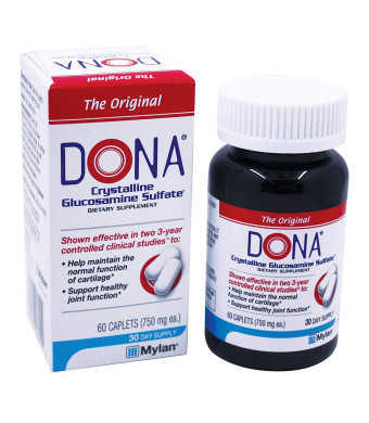 Dona Crystalline Glucosamine Sulfate, 750 Mg, 60 Count