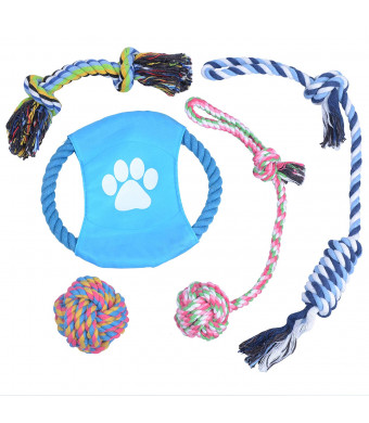 PetforCity Dog Toys Puppy Tough Rope Teething Toys Gift Set for Small to Medium Dogs