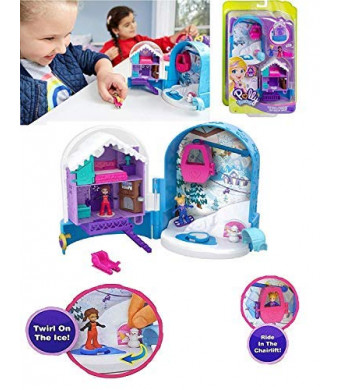 Polly Pocket - Snowball Surprise Compact - It time for Snowy Fun with The Polly Pocket Pocket World Snow Secret Compact!