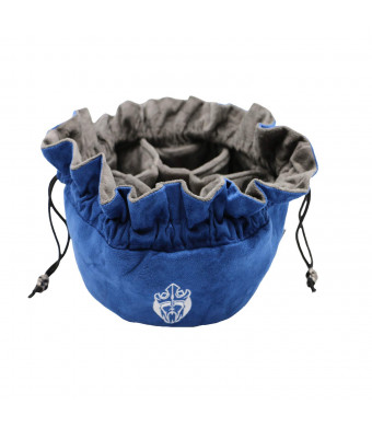 Immense Freestanding Dice Bag - Capacity 150 Dices - Blue - Dice Hoarders Dream