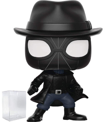 Funko Pop! Animated Spider-Man Movie: Into The Spider-Verse - Spider-Man Noir with Hat Vinyl Figure (Includes Pop Box Protector Case)