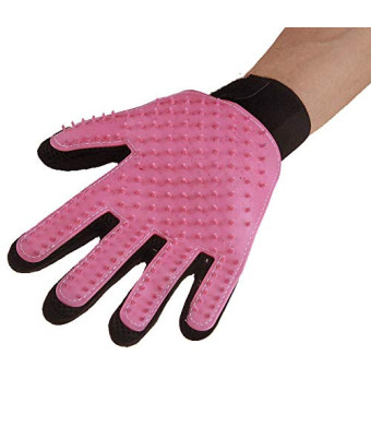 * Cheetah * Pet Dogs,Cats Grooming Hair Removal Mitts and Rollers Light Blue, Pink,red,Green. (Left, Pink)