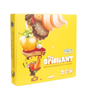 The Brilliant: Math Board Game for Learning Multiplication Through Play. Geeky STEM Toy n Gift for Boys n Girls Ages 7 Years n up