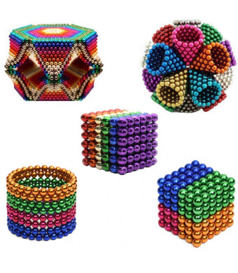 truwire 5MM Magnetic Ball Set for Office Stress Relief Desk Sculpture Toy Perfect for Crafts, Jewelry and Education Magnetized Fidget Cube Provides Relief for Anxiety, ADHD, Autism, Boredom Mixed