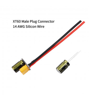 Makerfire XT60 Male Plug Connector Cable with Capacitor for RC Drone Power Supply 3-6s Lipo Battery Cable Extend FPV ESC PDB