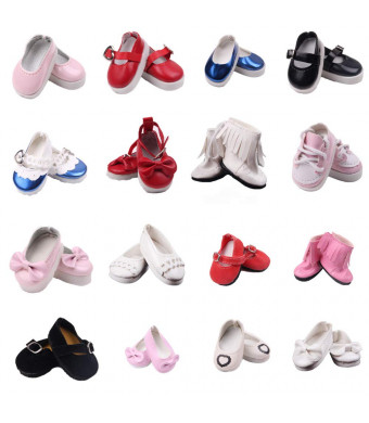 BBTOYS 6Pairs 14inch Doll Shoes Fits for Wellie Wishers Doll (NO:1)