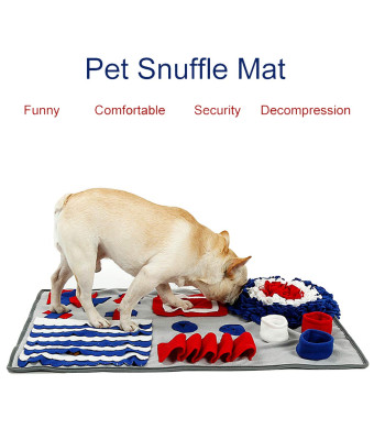 LYCXC Dog Snuffle Mat Feeding Mat Nosework Blanket Dog Training Mats Interactive Pet Toy Mat for Dogs Cat Stress Release