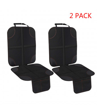 2 Pack Car Seat Protector with Thickest Padding Protection for Cars Seats Cover Pad Protects Automotive Vehicle Leather or Cloth Upholstery (Seat Protector)