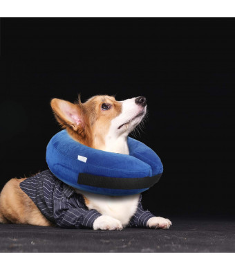 sunpangpang Protective Inflatable Dog Cone Collar,Comfortable Designed to Prevent Pets from Biting Scratching at Injuries, Stitches, Rashes Wounds,Adjustable Soft Pet Recovery Collar for Dogs or Cats