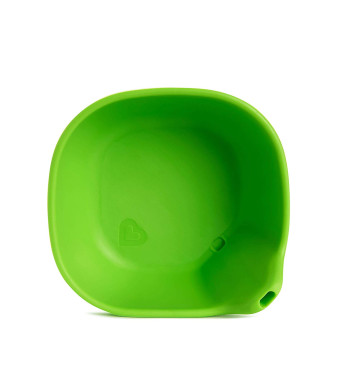Last Drop Silicone Toddler Bowl with Built-In Straw, Green