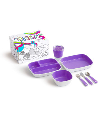 Munchkin Color Me Hungry Toddler Dining Set, Purple