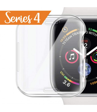 Mobling Designed [Series 4 - HD Clear] Screen Protector/Case for The Apple Watch [Larger Size - 44 mm] - TPU