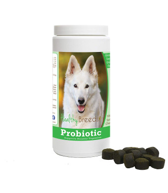 Healthy Breeds Probiotic Soft Chews - Vet Formulated to Support Healthy Digestion - Over 200 Breeds - Grain Free - Chicken Liver Flavor - 100 Chews