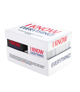 I Know Everything! - The Best Party Card Game for Adults, All Fun and Games Especially When You're Drinking, Perfect for Groups and Parties Adult Friends and Family 500 Cards + White Board Included