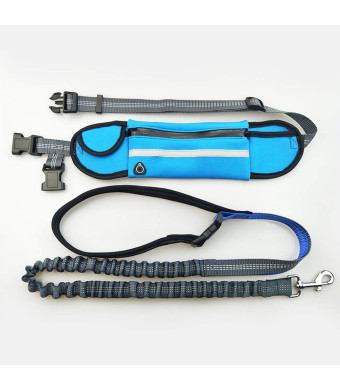 WishLotus Waist Pet Leash Outdoor Running Free-Hand Adjustable Waist Belt Waterproof and Nylon Retractable Dog Leash Suitable for Most of Dogs