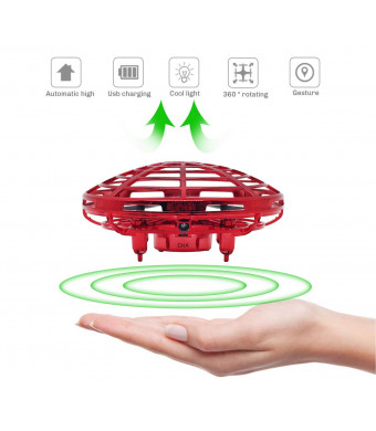 Hand Controlled Mini Drone for Kids Adults Boys Girls Gifts, Red