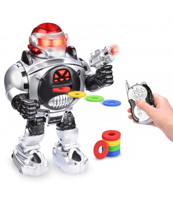 Remote Control RC Robot for Kids  Shoots, Sings, Dances, Talks, Slides  Fun and Entertaining Companion for Kids  Easy to Use, Kid-Friendly Design  LED Lights, Music and Dapper Dance Moves {Upgraded}
