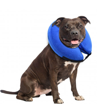 E-KONG Dog Collar Protective Adjustable Cats Recovery Collar Inflatable Cone Collar for Pets After Surgery