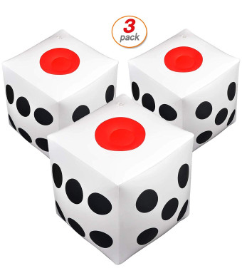 3 Pack Inflatable Dice Jumbo Dice Giant Inflatable Dice Blow Up Cube Dice for Party Game Playing