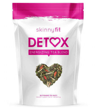 SkinnyFit Detox Tea: Cleanse w/All-Natural, Laxative-Free, Green Tea Leaves, Vegan, Gluten-Free, 28 Servings - Slimming Way to Release Toxins and Increase Energy w/Bonus Digital Welcome Guide
