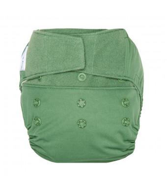 GroVia Reusable Hybrid Baby Cloth Diaper Hook and Loop Shell (Basil)
