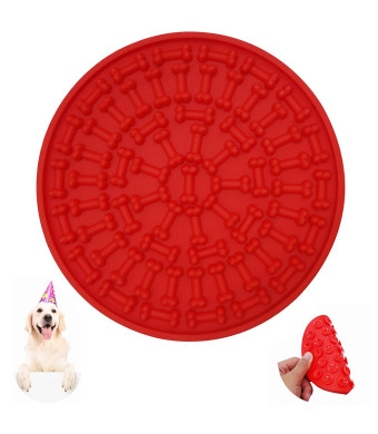 Helpcook Dog Lick Pad, Bath Buddy for Pets,Dog Washing Distraction Device,Dog Bath Grooming Helper,Buddy Treat Mat-Super Strong Suction Force-Just Add Peanut Butter to Make Bath Time Easy and Funny