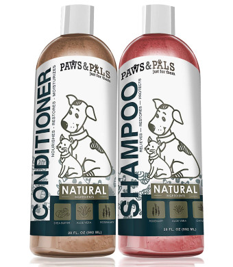 Natural Oatmeal Dog-Shampoo and Conditioner Combo - 20oz Medicated Clinical Vet Formula Wash for All Pets Puppy and Cats - Made with Aloe Vera for Relieving Dry Itchy Skin