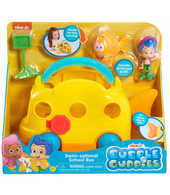 Nick Jr. - Bubble Guppies Swim-Sational School Bus - Includes Mr.Grouper and Gil!