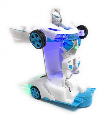 Kidsthrill Warrior Racing Car | 2 in 1 Car Toy | Realistic Robot | Bump and Go Action | Sounds and Colorful Lights |Compact Measurements| Girls and Boys