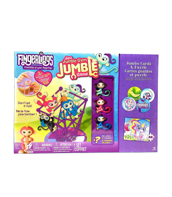 Fingerlings Jungle Gym Jumble Game with Jumbo Cards and 48 Piece Puzzle