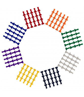 160 Pcs Multi-Color Plastic Replacement Pawns Pieces for Board Games or DIY Tabletop Markers by MOMOONNON, 16mm24mm