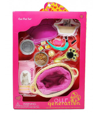 "Our Generation Cat Pet Set, Accessory kit for 18"" Dolls"