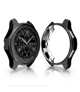 Case for Gear S3 Frontier SM-R760 46mm, Minisoo TPU Scractch-Resist Shock-Proof All-Around Protective Bumper Shell Protective Band Galaxy Watch SM-R800 46mm Smartwatch (Black)
