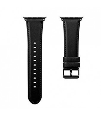 Sport Band Compatible with Apple Watch Bands 38mm 40mm,Leather Replacement Strap Bands for iWatch Apple Watch Series 4 Series3 Series 2 Series 1 Sport Edition (Black#, 38mm/40mm)