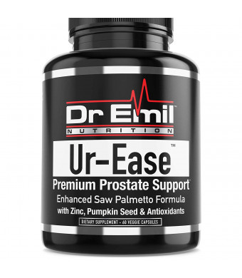 Dr. Emil UR-Ease - Prostate Support w/Saw Palmetto and Potent Antioxidants - Prostate Health Supplement for Frequent Urination and Bladder Control (60 Veggie Capsules)