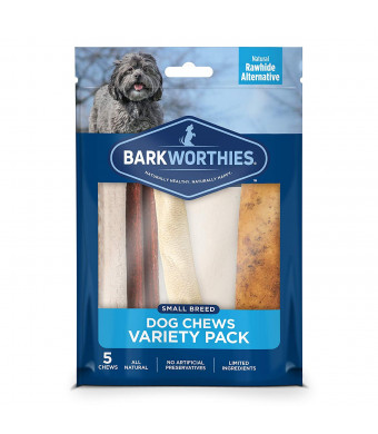 Barkworthies Healthy Dog Treats and Chews Variety Pack - Protein Rich, All Natural Rawhide Alternative - Highly Digestible - Promotes Dental Health - Great Gift for All Dogs