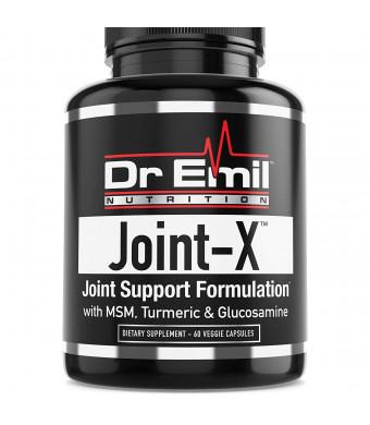 Joint Support Formula - Glucosamine Chondroitin, Turmeric, MSM, Boswellia - Extra Strength Joint Supplement for Mobility and Pain Relief - for Men and Women (60 Veggie Capsules)