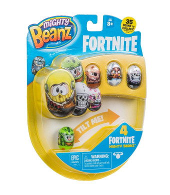 """MIGHTY BEANZ, Fortnite 4 Pack (Styles May Vary) Toy, Multicolor, 1"""""""