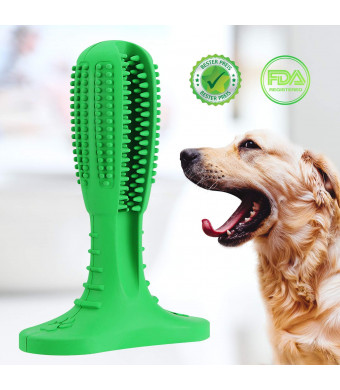 JIALANJIUYU Dog Toothbrush Stick, Pet Toothbrush Chew Toy is Best Teeth Cleaning Massager and Made of Natural Rubber which is Non-Toxic and eco-Friendly for Small Large XLarge Dogs.