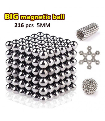 LOVEYIKOAI 216 Pcs 5MM Magnets Rollable Building Blocks Toys Buildable Sculpture Toy with Portable for Stress Relief Gift for Adults