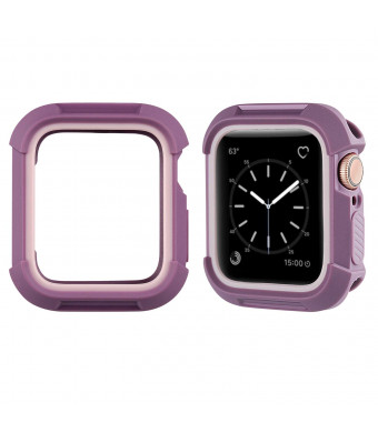 MAIRUI Compatible with Apple Watch Bumper 40mm, Rugged Protective Cover Case Protector for iWatch Series 4 (Purple)